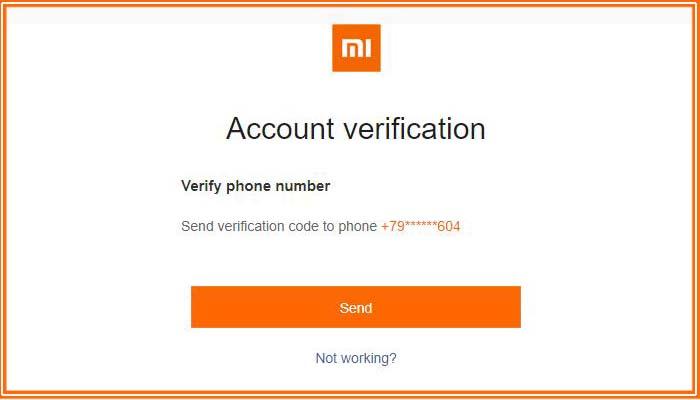 как восстановить ми аккаунт если забыл пароль