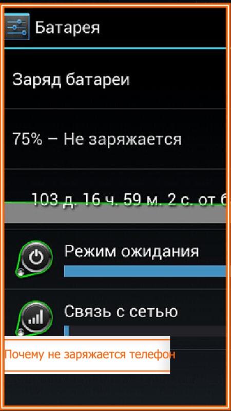 почему не заряжается телефон хотя показывает что зарядка идет андроид